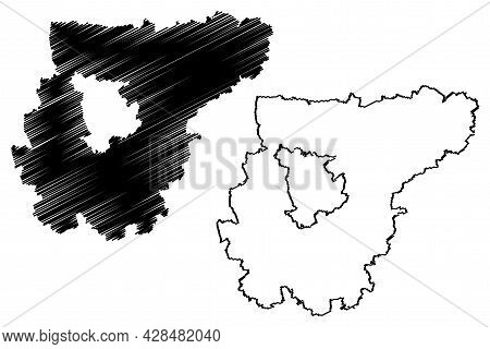 Weimarer Land District (federal Republic Of Germany, Rural District, Free State Of Thuringia) Map Ve