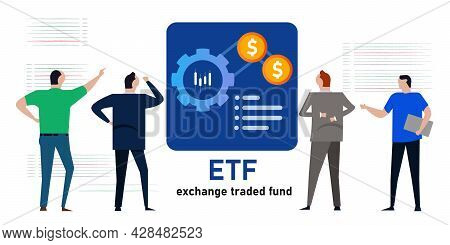 Etf Exchange Traded Fund Investor Invest In Mutual Fund Money Financial Related To Indices Index Sto