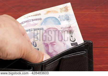 Turkish Money - Lira In The Black Wallet