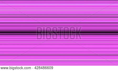 Hypnotic Animation With Lines Moving From Center. Animation. Bright Colored Stripes Move Horizontall