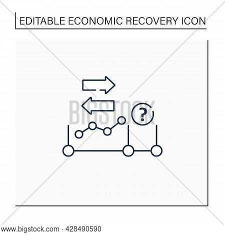 Initial Expansion Line Icon. Economy Increase. Profitable Business Development, Growth. Extension. E