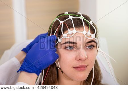 Patient Brain Testing Using Encephalography At Medical Center