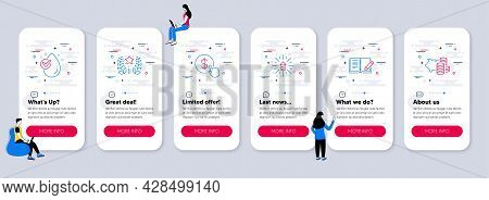Set Of Line Icons, Such As Water Drop, Ranking, Fireworks Explosion Icons. Ui Phone App Screens With