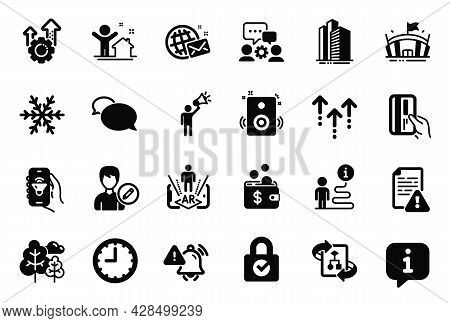Vector Set Of Business Icons Related To Edit Person, Skyscraper Buildings And Password Encryption Ic