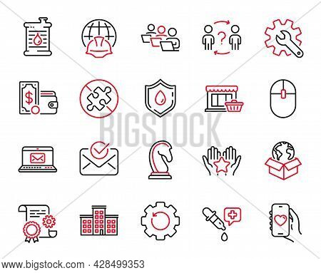 Vector Set Of Business Icons Related To Customisation, Construction Document And Global Engineering