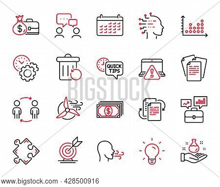 Vector Set Of Education Icons Related To Time Management, Payment And Business Portfolio Icons. Cale
