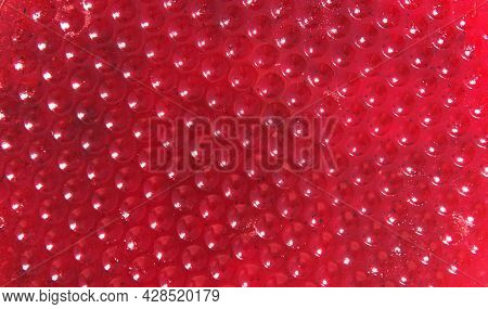 A Modern Rich Abstract Red Background, The Structure Of Berry Marmalade With Highlights And Artistic