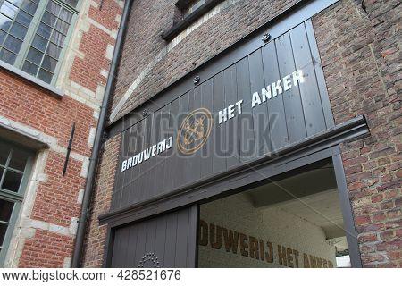 Mechelen, Belgium, 1 August 2021: Exterior View Of 'het Anker' Brewery In Mechelen. It Is One Of The
