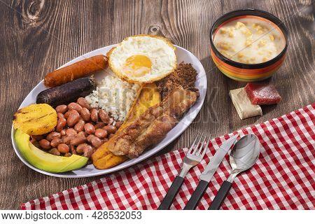 Bandeja Paisa, Typical Colombian Main Dish - Gastronomy Of Antioquia