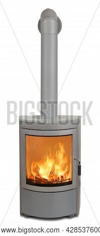 Wood Fired Heater Stove Oven Burning Fire