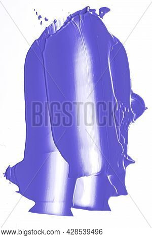 Lavender Purple Beauty Cosmetic Texture Isolated On White Background, Smudged Makeup Smear Or Cosmet