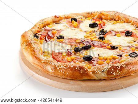 Tasty Pizza. Cheese Pizza. Pepperoni Pizza. Mushroom Pizza. Mozzarella And Tomato. Italian Dish. Ita