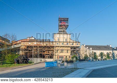 Walbrzych, Poland - June 3, 2021: Former Coal Mine In Walbrzych.