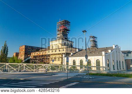 Walbrzych, Poland - June 3, 2021: Former Coal Mine.