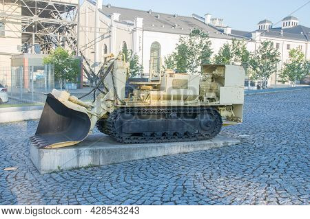 Walbrzych, Poland - June 3, 2021: Lbs- 500w Side Loader At Former Coal Mine.