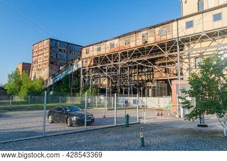 Walbrzych, Poland - June 3, 2021: View On Former Coal Mine In Walbrzych.