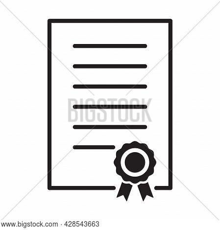 Certificate Icon Vector Diploma, Award, Grant, Achievement For Graphic Design, Logo, Web Site, Socia