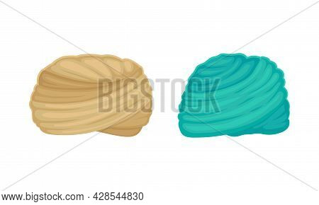Indian And Arabic Turban As Traditional Headwear Of Cloth Winding Vector Set