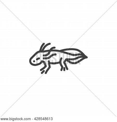 Salamander Amphibian Line Icon. Linear Style Sign For Mobile Concept And Web Design. Salamander Liza