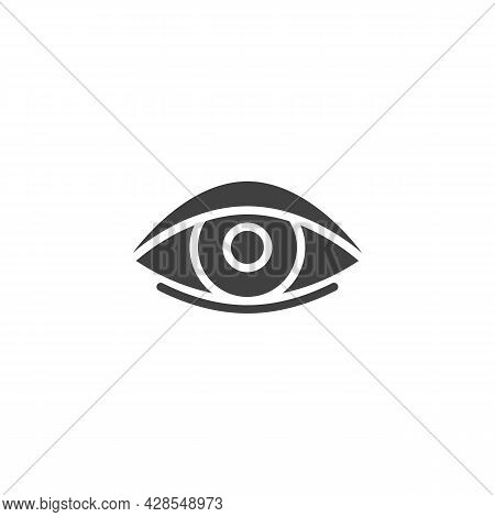 Eye Vector Icon. Filled Flat Sign For Mobile Concept And Web Design. Human Eye, Eyeball Glyph Icon.