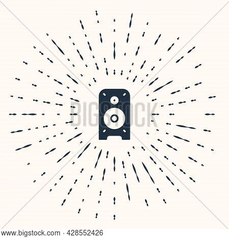 Grey Stereo Speaker Icon Isolated On Beige Background. Sound System Speakers. Music Icon. Musical Co
