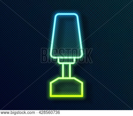 Glowing Neon Line Milling Cutter For Manicure Icon Isolated On Black Background. Apparatus For Manic
