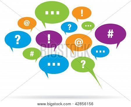 Communication Talk Bubble Balloons