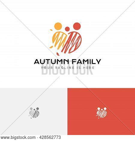 Happy Autumn Family Fall Season Love Care Logo