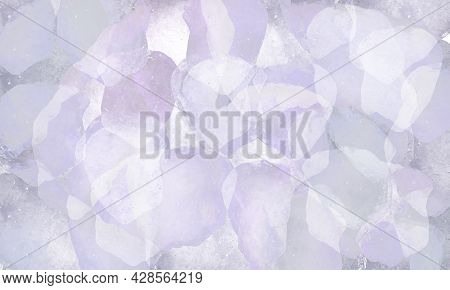 Salt Crystals, Sea Salt As Background And Texture. Ice Crystals. Colorful Graphic Background Molecul