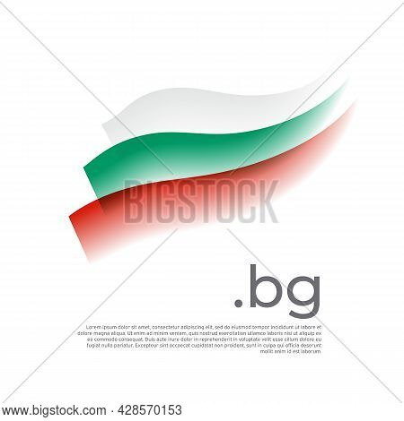 Bulgaria Flag Watercolor. Stripes Colors Of The Bulgarian Flag On A White Background. Vector Stylize