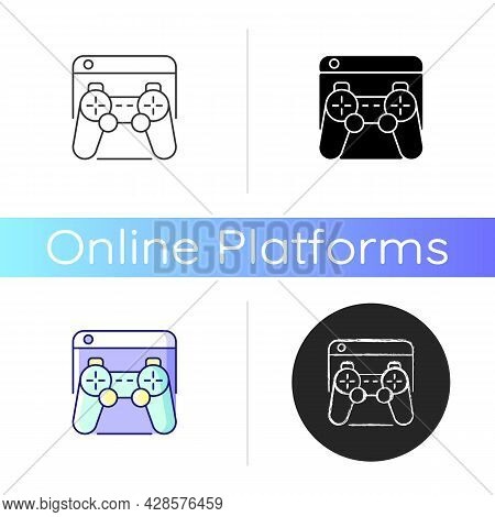 Game Platforms Icon. Playing Video Games. Desktop Application. Two-dimensional Graphics. Videogame S