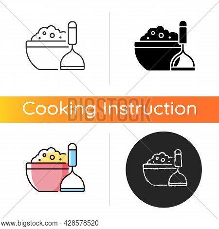 Mash Potato Icon. Vegan Gravy Recipe. Thanksgiving Dish. Nutrient Meal. Cooking Instruction. Food Pr