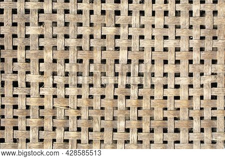 Wood Grain Background Bamboo Art. Texture Background Of Bamboo Basketry