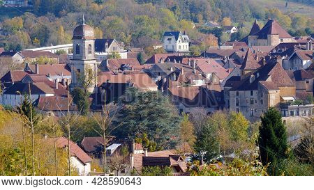 Arbois Town In Heart Of The Jura Wine Region Of Eastern France. Place To Visit, Tourist Attraction.