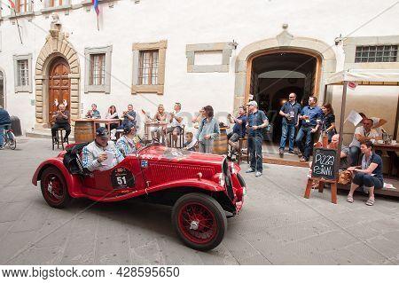 1934 Fiat 508  S In The City Of Sansepolcro Near Arezzo Attends The Mille Miglia Historic Race On Ma