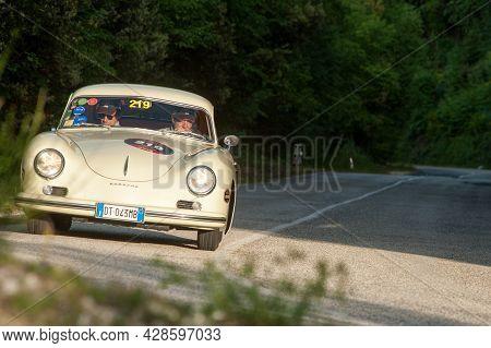 Sant'anatolia Di Narco, Umbria,  Italy, Porsche 356  Attends The Mille Miglia Historic Race On May 2