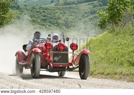 An Alfa Romeo 6c 1750  Attends The Mille Miglia Historic Race On May 21 2012, The Rally Will Feature
