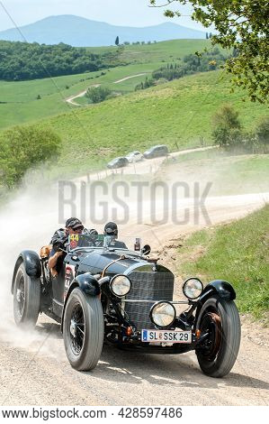 A Mercedes Benz 720 Ssk Attends The Mille Miglia Historic Race On May 21 2012, In Pieve A Salti, , S