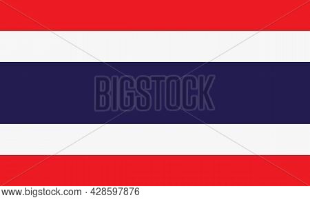 National flag of Thailand, Thailand flag in standard proportion color mode RGB. Thailand flag. Thailand flag icon, Thailand flag, Thailand flag image, Thailand vector image, Thailand flag png, Thailand flag jpg, flag of national of Thailand. vector ilustr
