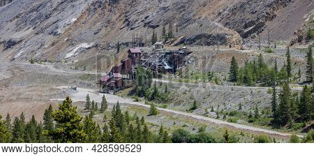 Old abandoned gold mine in Colorado near Monarch pass