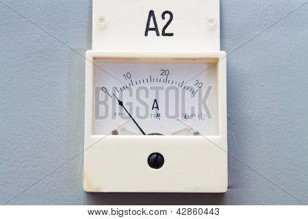 Old Style Ampermeter Gauge
