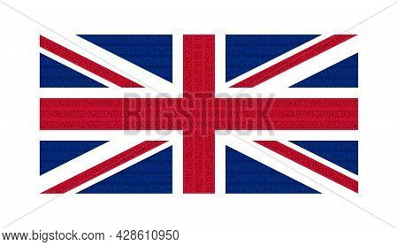 Flag Of The Great Britain. Colored Flag The Great Britain. Abstract Great Britain Flag With National