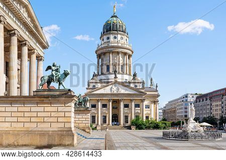 The Famous Gendarmenmarkt With The French Cathedral, Berlin