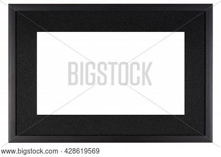 Black Mockup Canvas Frame Isolated On White Background