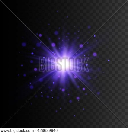 Light Effect, Star Burst With Sparkles, Blue Glitter Texture