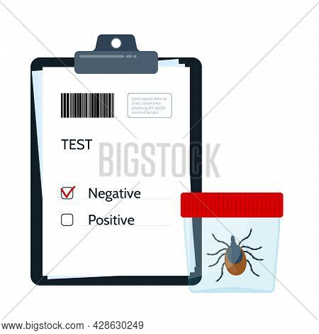 Borreliosis Test. Encephalitis Test. Prevention Of Infections Transmitted By Mite