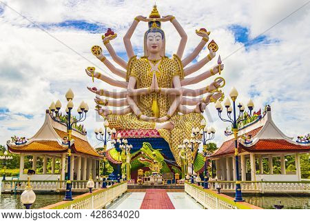 Guan Yin Goddess Wat Plai Laem Temple Koh Samui Thailand.
