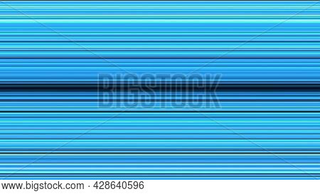 Bright Colored Lines Move To Horizontal Center. Animation. Colored Lines Mirror Each Other In Center