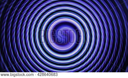 Colored Spiral With Blurred Center. Motion. Hypnotizing Spiral With Iridescent Colorful Center. Soot