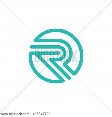 Initial Letter R Abstract Logo Vector Template.